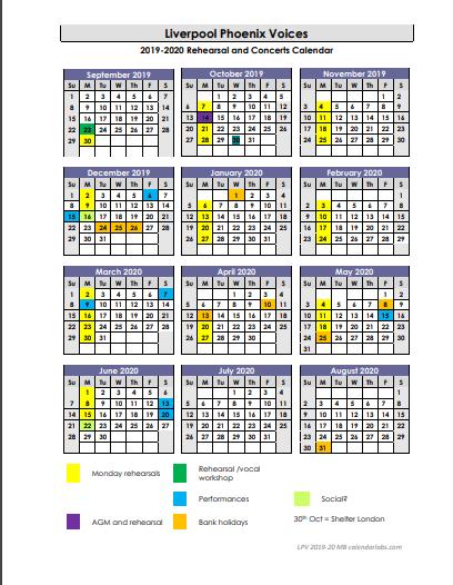 schedule of rehearsals